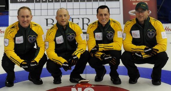 Brad Jacobs, Ryan Fry, E.J. Harnden and Ryan Harnden (Photo Michael Burns)