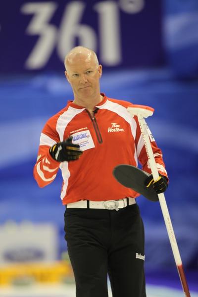 Glenn Howard at the 2012 Men's World Curling Championship (Photo Michael Burns)