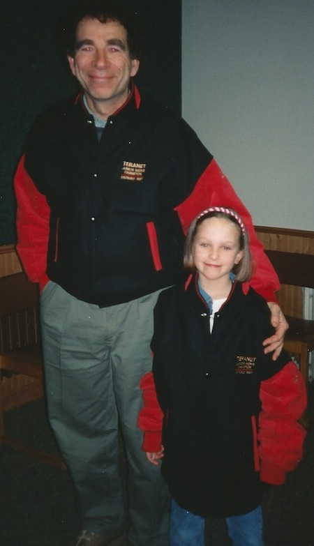 Earle Morris with his young five-year-old protege, Rachel Homan. (Photo, courtesy Earle Morris)