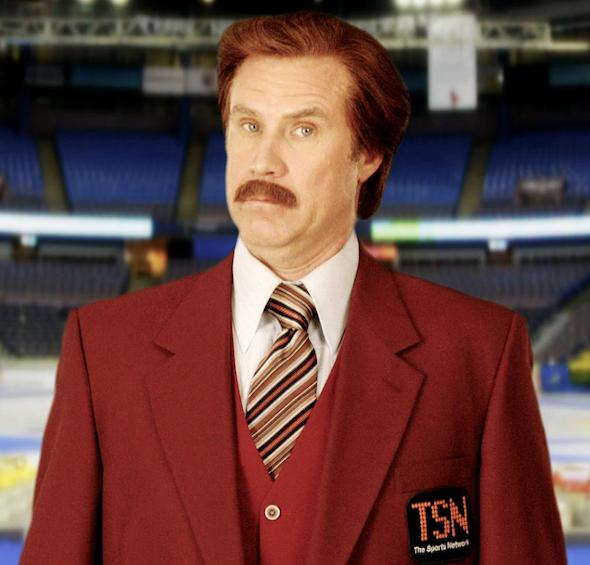 TSN's newest broadcaster, Ron Burgundy, will make his debut during the 2013 Tim Hortons Roar of the Rings.