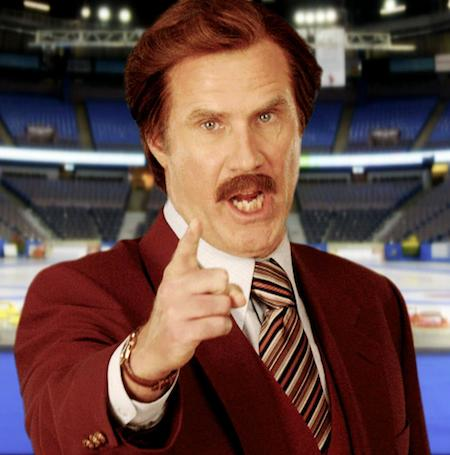 Ron Burgundy will be in the house for the opening draw on Sunday.