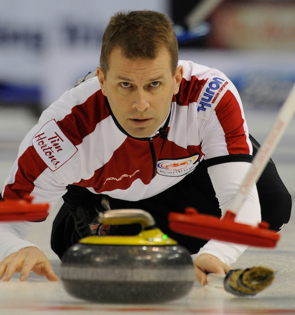 Jeff Stoughton is just one of an abundance of talented skips who will be competing at the Tim Hortons Roar of the Rings. (Photo, CCA/Michael Burns)