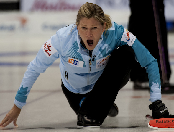 Sherry Middaugh kept her Olympic hopes alive with a win in Friday afternoon's tiebreaker. (Photo, CCA/Michael Burns)