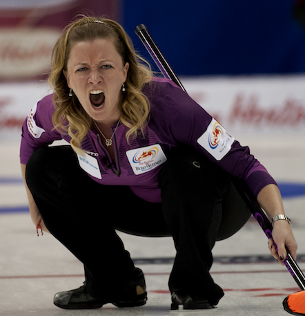 Winnipeg's Chelsea Carey suffered a disappointing loss to Stefanie Lawton on Tuesday afternoon. (Photo, CCA/Michael Burns)
