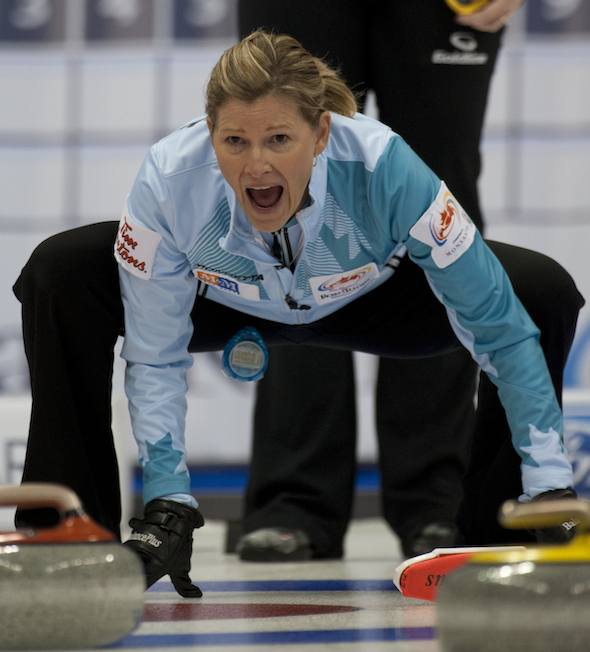 Sherry Middaugh of Coldwater, Ont., is still alive in her bid for a berth in the 2014 Olympics. (Photo, CCA/Michael Burns)