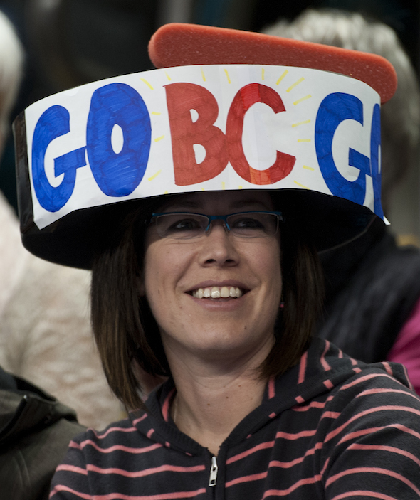The fans were out in full force on Friday to show their support for Team B.C. at the Tim Hortons Brier. (Photos, CCA/Michael Burns)