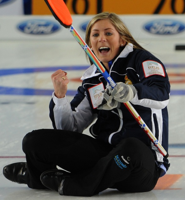 Riga Latvia,Mar24,2013.Titlus Womans World Curling Championship.Scotland skip Eve Muirhead. CCA/michael burns photo