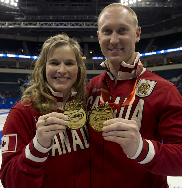 Jennifer Jones, left, and Brad Jacobs will lead their teams to Las Vegas for the 2014 WFG Continental Cup. (Photos, CCA/Michael Burns)
