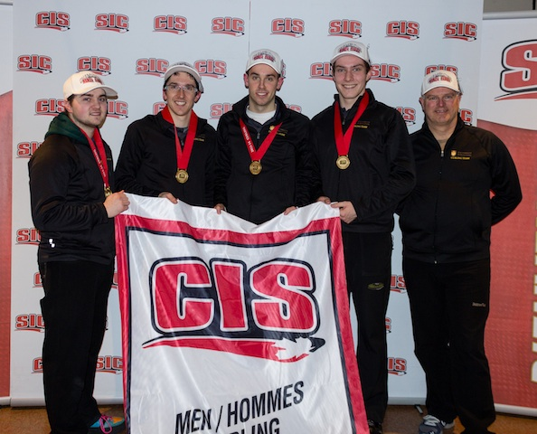 University of Manitoba Bison win the gold medal at the 2014 CIS/CCA Canadian Curling Championships in Regina (Photo Andrew Burant)