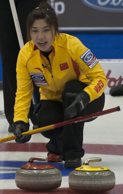 China's Sijia Liu calls out sweeping instructions. (Photo, CCA/Michael Burns)