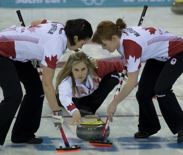 Team Jennifer Jones will make its 2014-15 debut at a World Curling Tour event this weekend in Sweden. (Photo, CCA/Michael Burns)