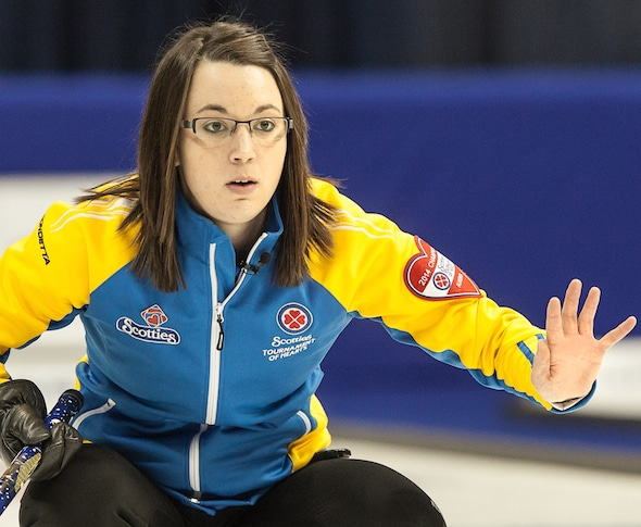 Val Sweeting's team from Edmonton finished second at a World Curling Tour event on the weekend in Vernon, B.C. (Photo, CCA/Andrew Klaver)