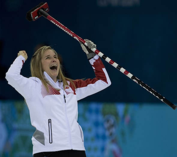 Jennifer Jones is a finalist for the Air Canada Athlete of the Year award. (Photo, CCA/Michael Burns)