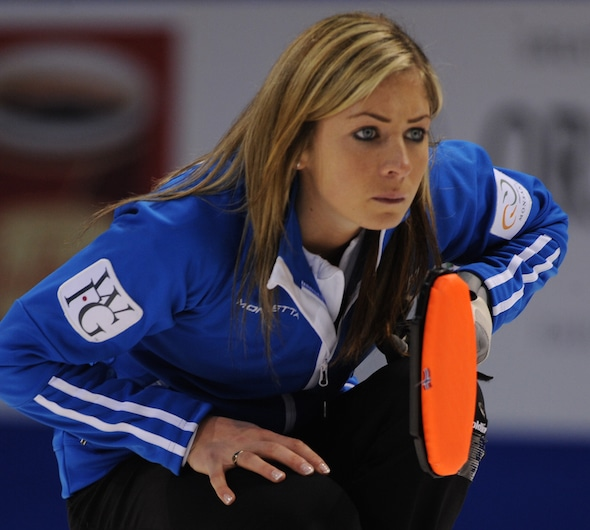 Scotland's Eve Muirhead skipped her team to victory on the weekend in Saskatoon. (Photo, CCA/Michael Burns)