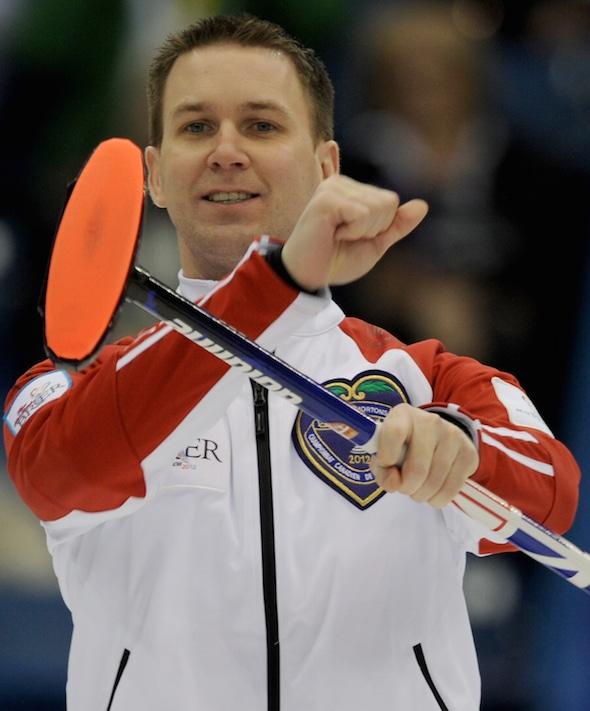 Brad Gushue's St. John's team won the Grand Slam Masters on Sunday. (Photo, CCA/Michael Burns)