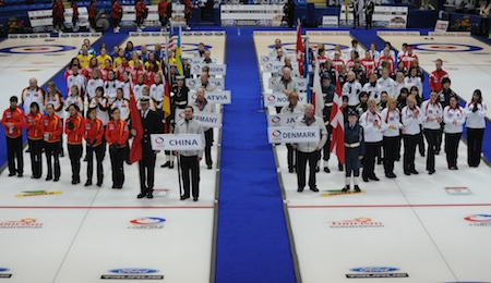The opening ceremonies of the 2010 Ford World Women's Championship in Swift Current. (Photo, CCA/Michael Burns)