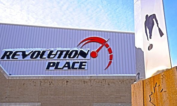 Revolution Place in Grande Prairie, Alta., will host the 2015 Home Hardware Canada Cup and the 2016 Scotties Tournament of Hearts. (Photo, courtesy Revolution Place).