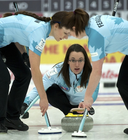 Team Sweeting has taken over top spot in the Canadian Team Ranking System's women's standings. (Photo, CCA/Michael Burns)