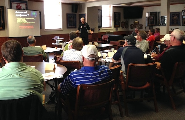 Classroom sessions are part of the OVCA's Train the Trainer program held recently at the Ottawa Curling Club (Photo courtesy Ottawa Curling Club)