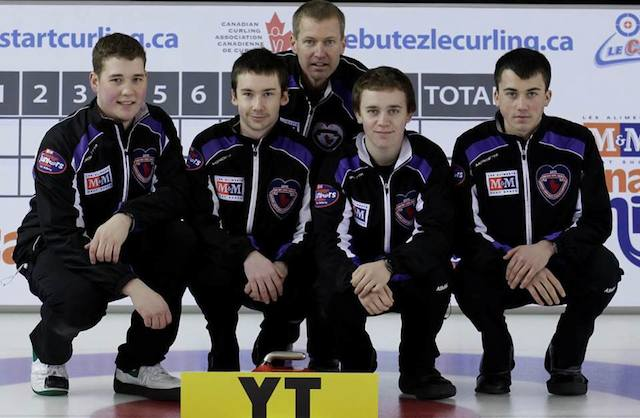 Wade Scoffin with Team Yukon at the 2013 M&M Meat Shops Canadian Junior Curling Championships in Fort McMurray, Alta. (CCA Photo)