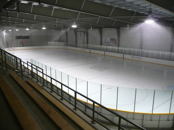 Molson Arena, part of the Stratford Rotary Complex, which will host the 2016 Canadian Junior Curling Championships.