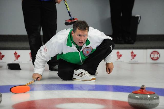 Sean Meacham, 2014 Canadian Mixed Curling Championship (CCA Photo)