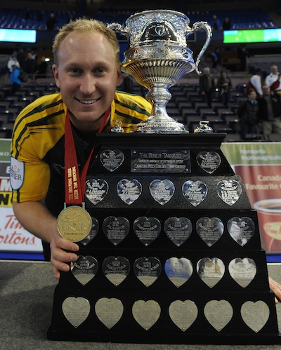 Brad Jacobs will take aim at his second Tim Hortons Brier title in Calgary. (Photo, CCA/Michael Burns)