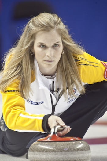 Manitoba's Jennifer Jones is looking to follow up on her Olympic gold-medal win last year. (Photo, CCA/Andrew Klaver)