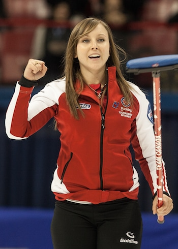 Rachel Homan and her team from Ottawa is looking to win its third straight Scotties title. (Photo, CCA/Andrew Klaver)