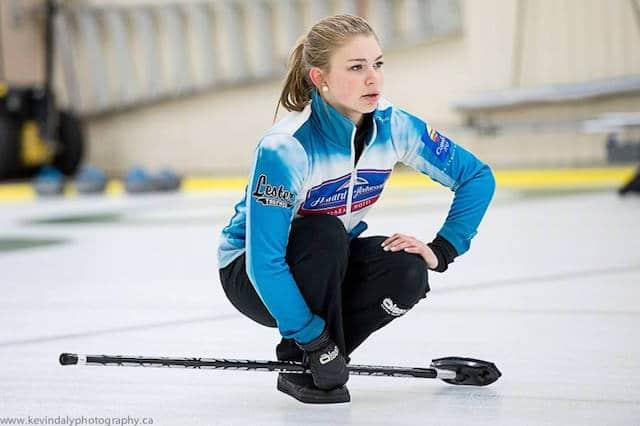 New Brunswick's Katie Forward in action (Photo courtesy Steve Au)