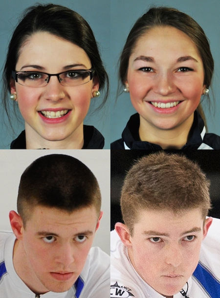 Clockwise from top left, Mary Fay, Karlee Burgess, Sterling Middleton and Tyler Tardi will comprise Team Canada at the 2016 Youth Winter Olympics in Lillehammer, Norway.