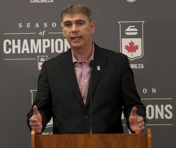Greg Stremlaw announced today he will be departing as Curling Canada's CEO. (Photo, Curling Canada/Michael Burns)