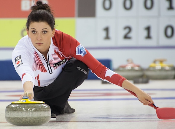 Reigning Canadian mixed doubles champ Kalynn Park will instruct at the Four-Foot mixed doubles camp in Kelowna, B.C. (Photo, World Curling Federation)