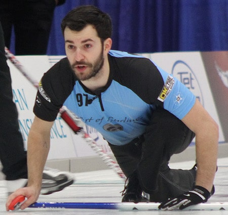 John Cullen, lead for Team Dean Joanisse, lost in the B.C. men's final last season. (Photo, courtesy Curl BC)