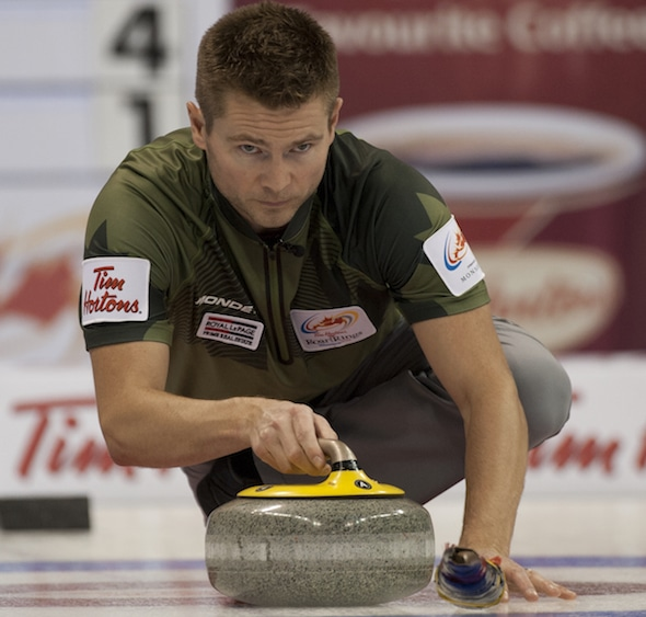 Mike McEwen and his team from Winnipeg won the Point Optical Classic in Saskatoon. (Photo, Curling Canada/Michael Burns)