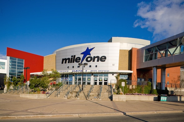 Mile One Centre in St. John's, N.L., will host the 2017 Tim Hortons Brier, it was announced today. (Photos, courtesy Mile One Centre)