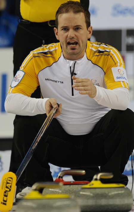 Reid Carruthers will be looking for back-to-back titles at the Stu Sells Toronto Tankard this weekend. (Photo, Curling Canada/Michael Burns)