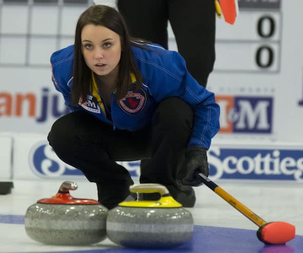 Edmonton's Kelsey Rocque is chasing CTRS points this weekend at the Prestige Hotels & Resorts Curling Classic in Vernon, B.C. (Photo, Curling Canada//Michael Burns Photography/Mark O'Neill)