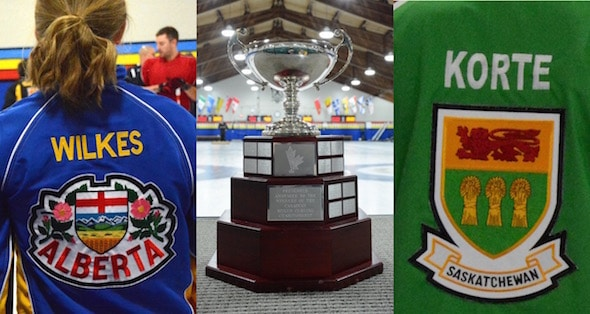 It will be Alberta and Saskatchewan playing for the championship trophy today in Toronto. (Curling Canada/Sonja DiMarco Photo)