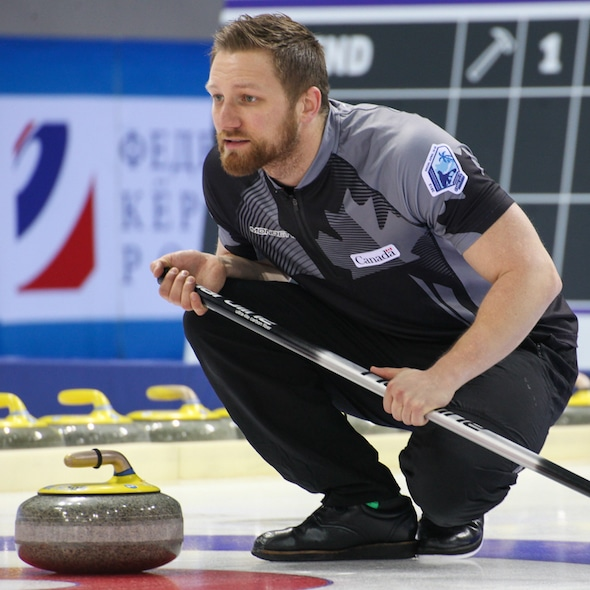 Charley Thomas skipped his team to victory on home ice in Calgary over the weekend. (Photo, World Curling Federation)