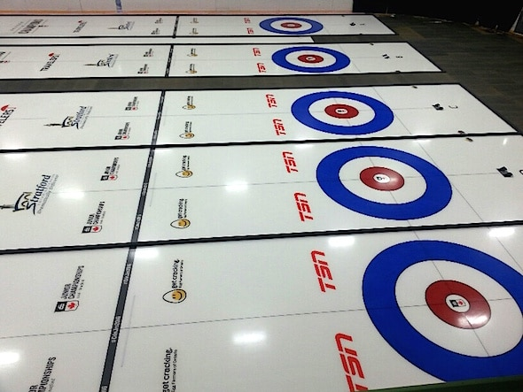 The ice is in place at the Stratford Rotary Complex for the 2016 Canadian Juniors, presented by Egg Farmers of Ontario.