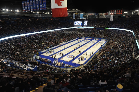 Fans have always packed Rexall Place for curling events over the years. (Photo, Curling Canada/Michael Burns)