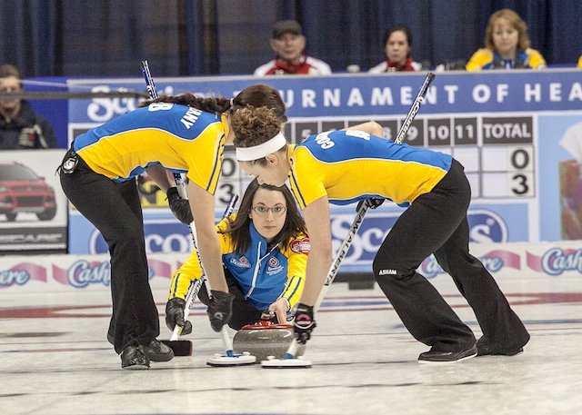 the 2014 Scotties Tournament of Hearts, the Canadian Womens Curling Championships, Montreal Quebec