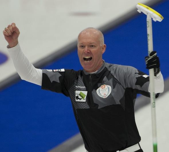 Glenn Howard captured his record 16th Ontario men's championship on Sunday in Brantford. (Photo, Curling Canada/Michael Burns)