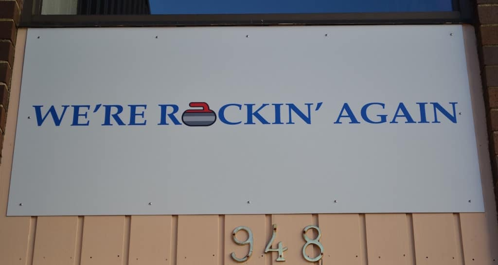 The sign in front of the Halifax Curling Club says it all (Photo by Jordan Whitehouse)