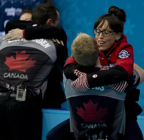 Sochi Ru.Feb21-2014.Winter Olympic Games.Men's Gold Medal Game.Team Canada,skip Brad Jacobs.WCF/michael burns photo