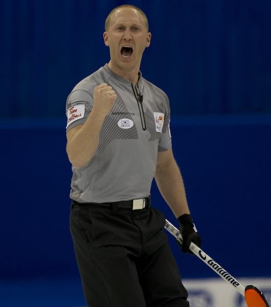 Winnipeg Mb. Tim Hortons Roar of the Rings 2013.skip Brad Jacobs.CCA/michael burns photo