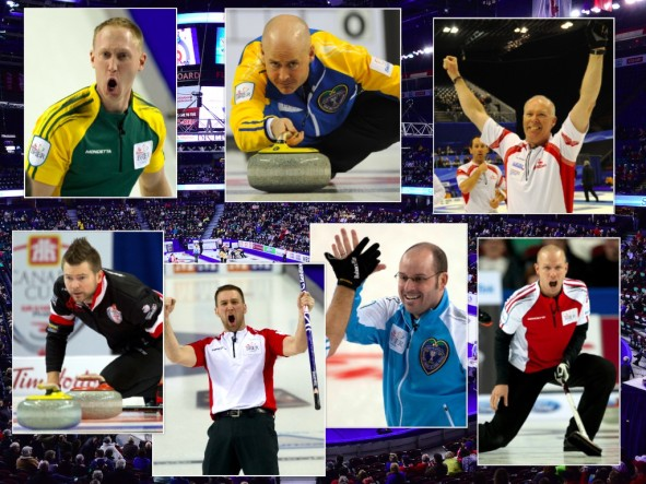 Curling's biggest names will be at the 2016 Tim Hortons Brier in Ottawa. (Photos, Curling Canada/Michael Burns)