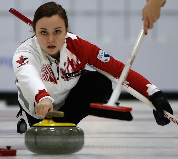 Defending champion, and two-time world junior champ, Kelsey Rocque will skip the University of Alberta in Kelowna. (Photo, WCF/Richard Gray)