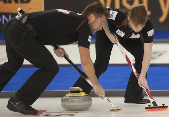 Mike and Dawn McEwen will be playing in the Canadian Mixed Doubles Championship, beginning Thursday in Saskatoon. (Photo, Curling Canada/Michael Burns)